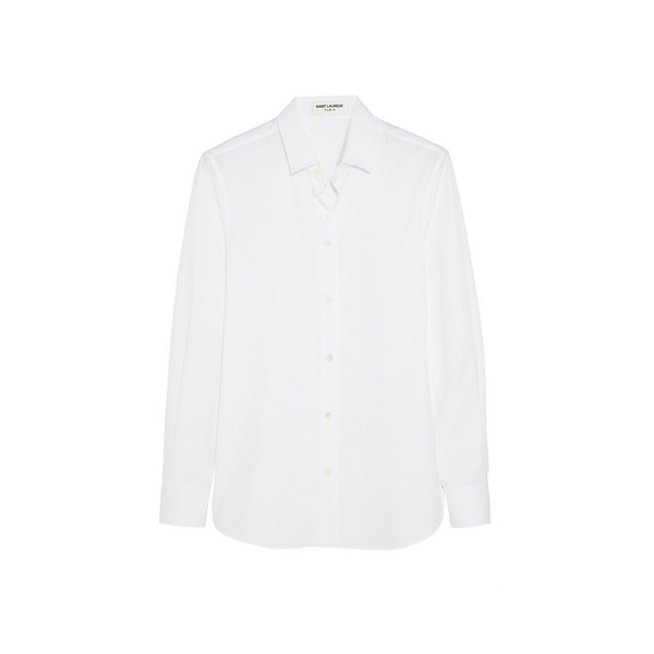 Saint Laurent纯棉府绸衬衫