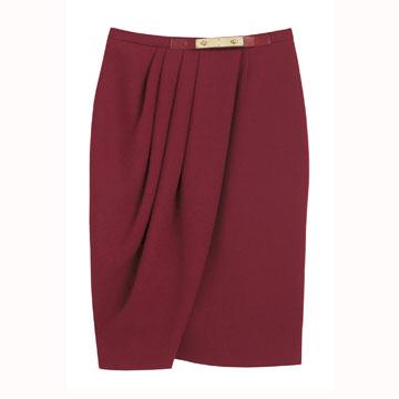 Mulberry 枣红色半身裙