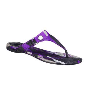 Dior迪奥Christian Dior荧光紫色迷彩凉鞋