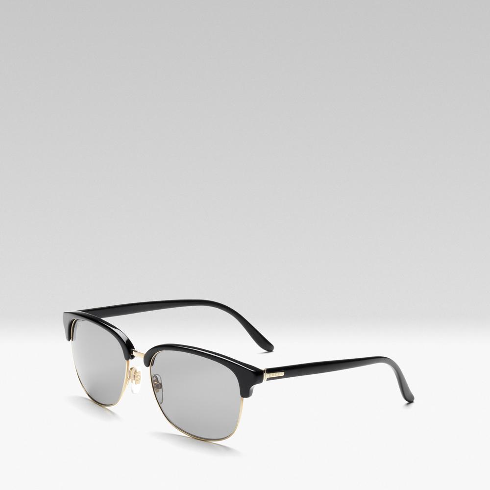 Gucci 2013早秋系列黑色镜框复古太阳镜