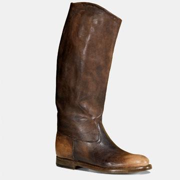 Gucci棕色做旧长靴