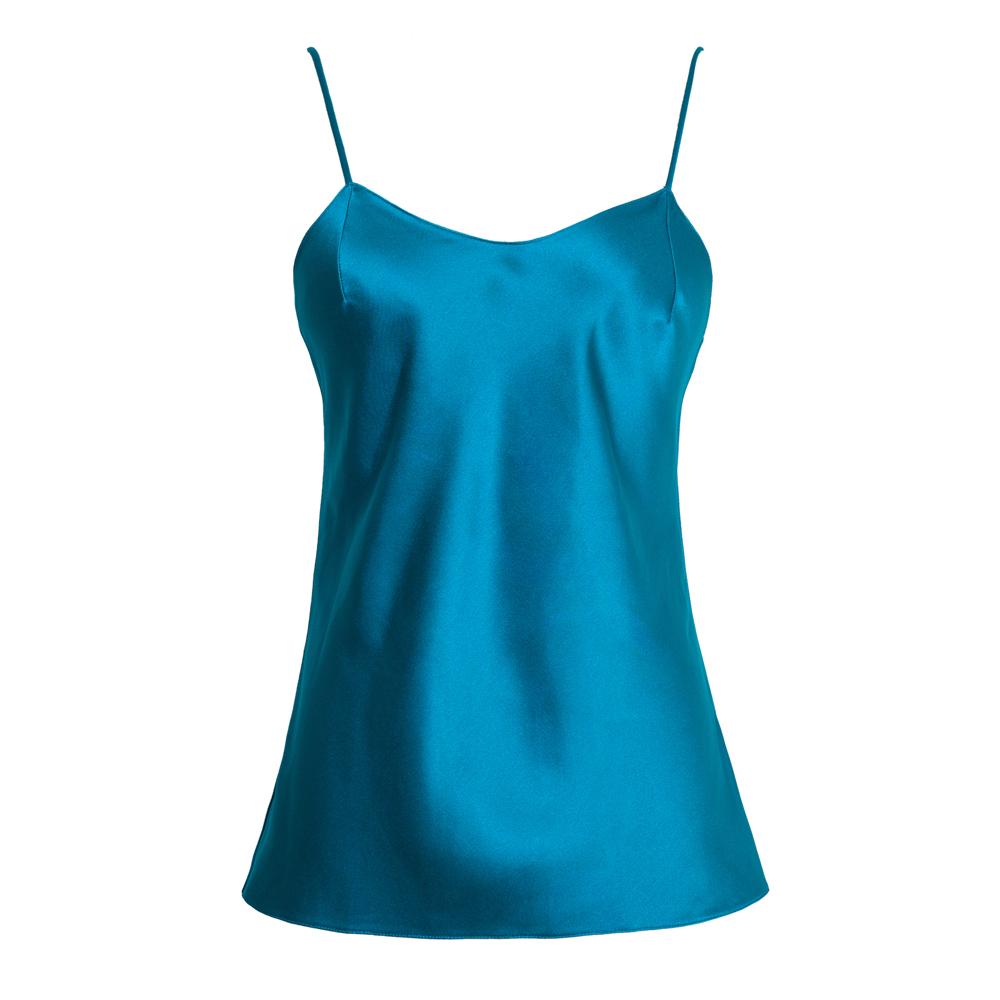 Dior蓝色真丝吊带