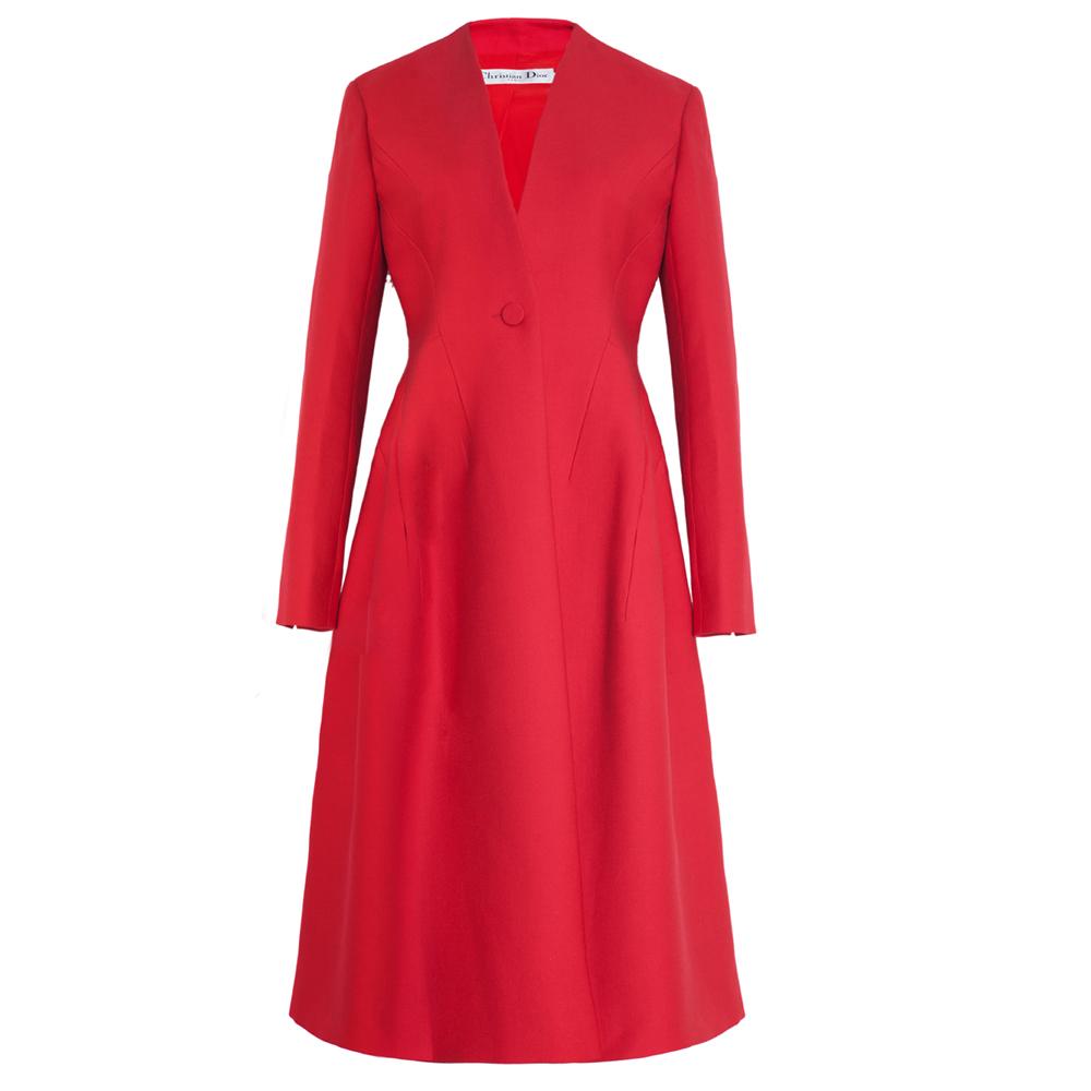 Dior优雅红色大衣