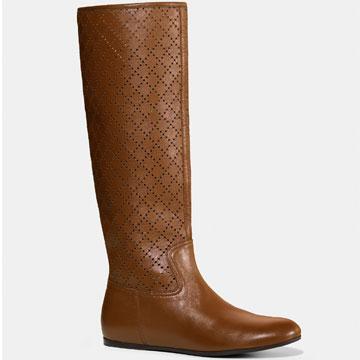 Gucci镂空浅棕长靴