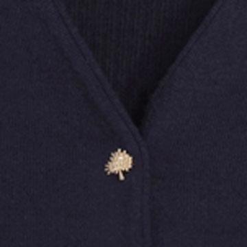 Mulberry深蓝色毛线开衫