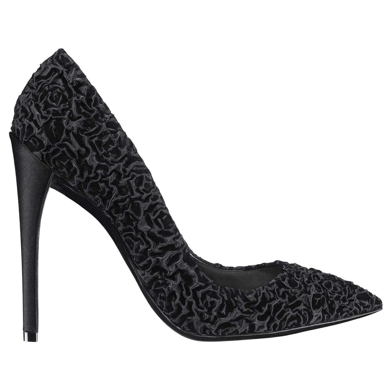 Dior迪奥2013早秋黑色立体花朵图案高跟鞋