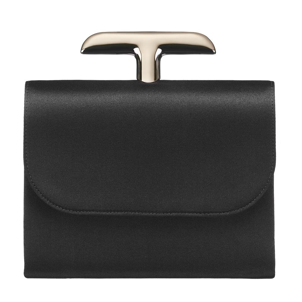 Dior黑色缎面defile手包