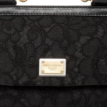 杜嘉班纳Dolce & Gabbana黑色印花手提包