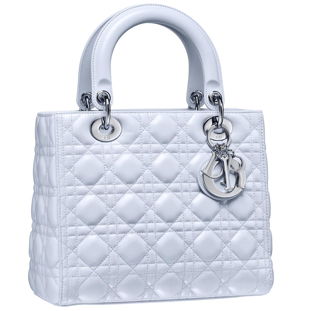Dior Lady Dior系列天蓝色牛皮手袋