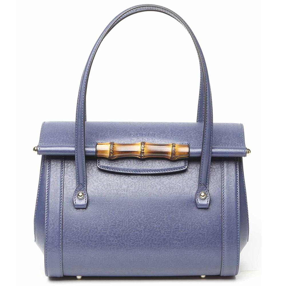 Gucci2014春夏蓝色皮质单肩包