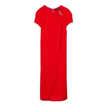 Louis Vuitton 2013早春Cruise系列红色连衣裙