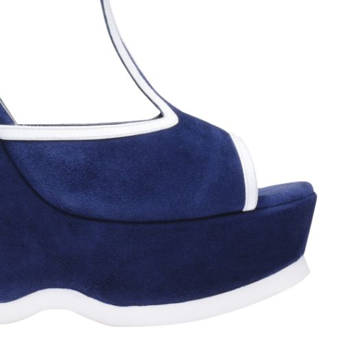 圣罗兰YSLT型坡跟厚底凉鞋