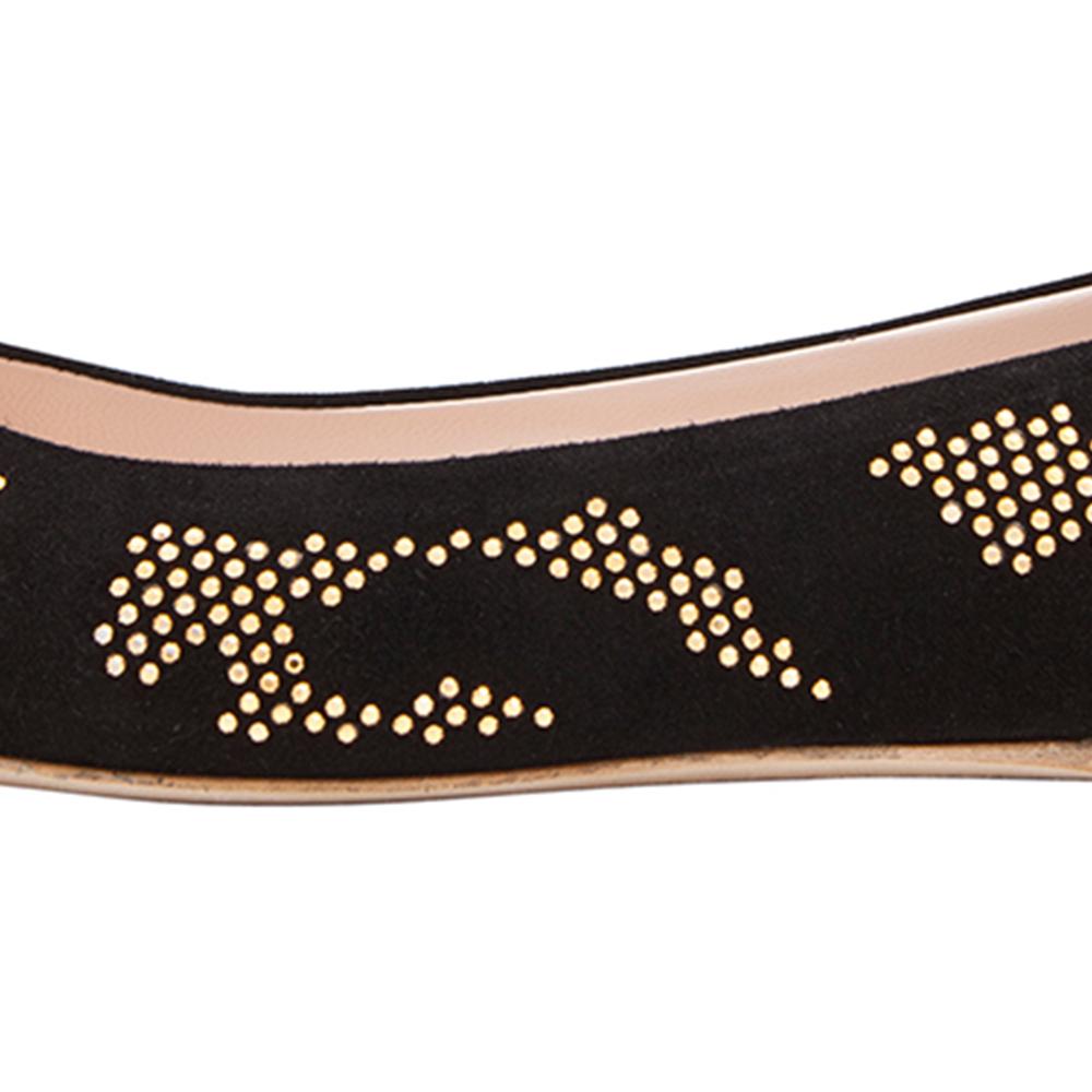 Versus范瑟丝2014春夏黑色皮质铆钉平底鞋
