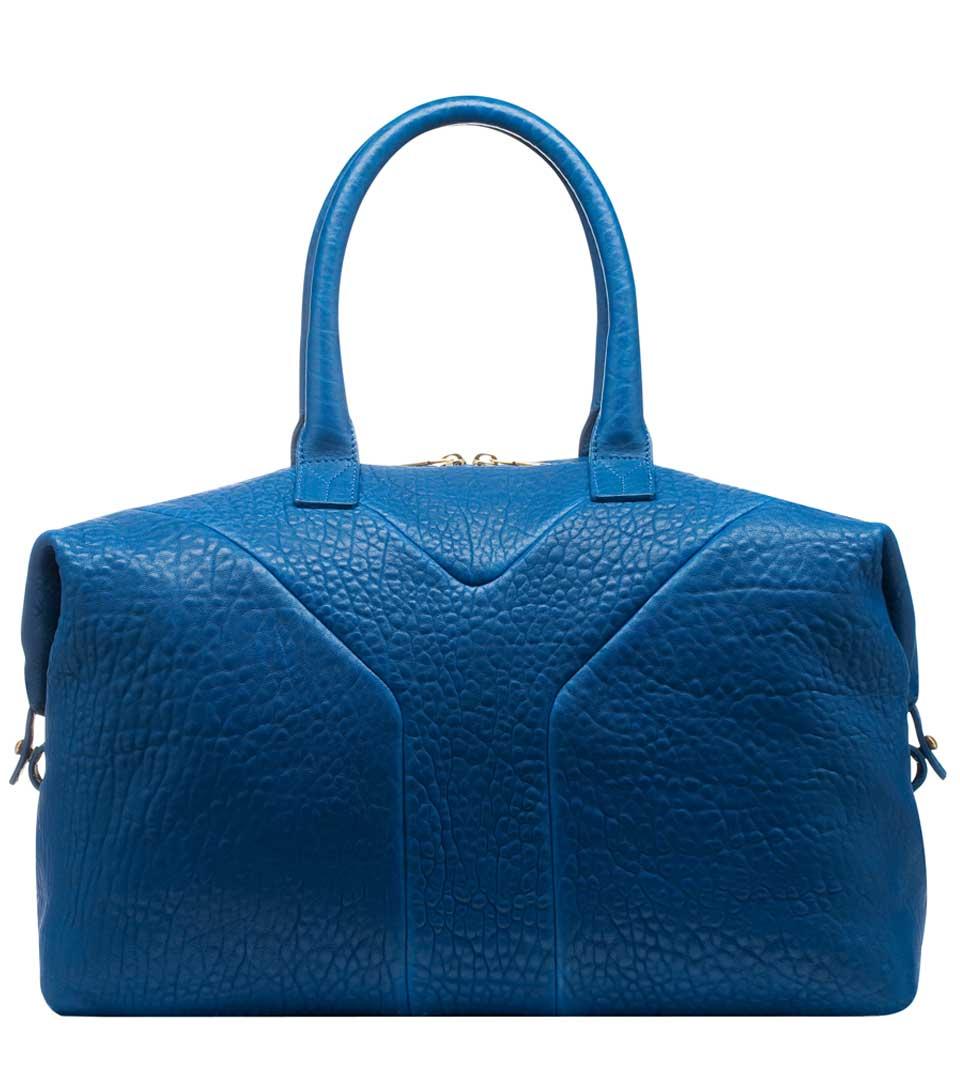 Yves Saint Laurent EASY蓝色拎包