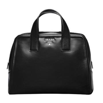 Prada 2013春夏复古黑色手拎包