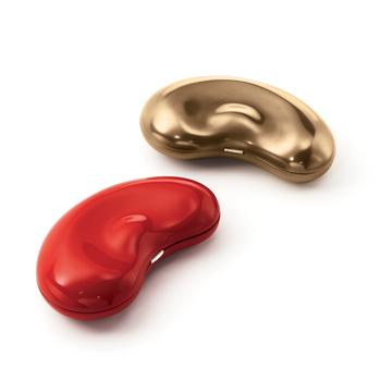 蒂芙尼Elsa Peretti® 艾尔莎·柏瑞蒂Lacquer Bean®日本硬木红色漆和金色漆手包