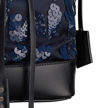 Louis Vuitton路易威登2014春夏系列蓝色花纹手拎包