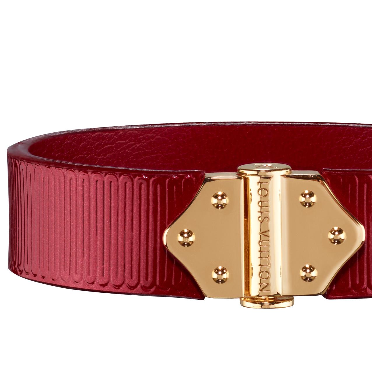 Louis Vuitton酒红色质手镯