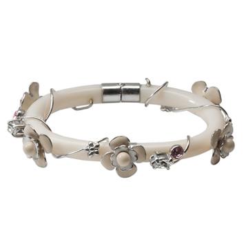 普拉达(Prada)2013年Donna系列象牙白环花朵手镯