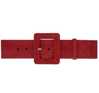 Yves Saint Laurent红色皮质腰带