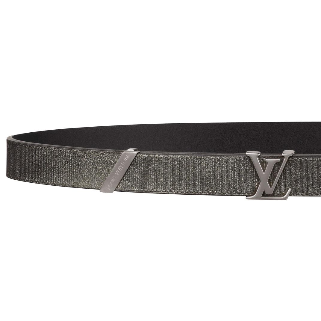 Louis Vuitton银灰色皮质腰带