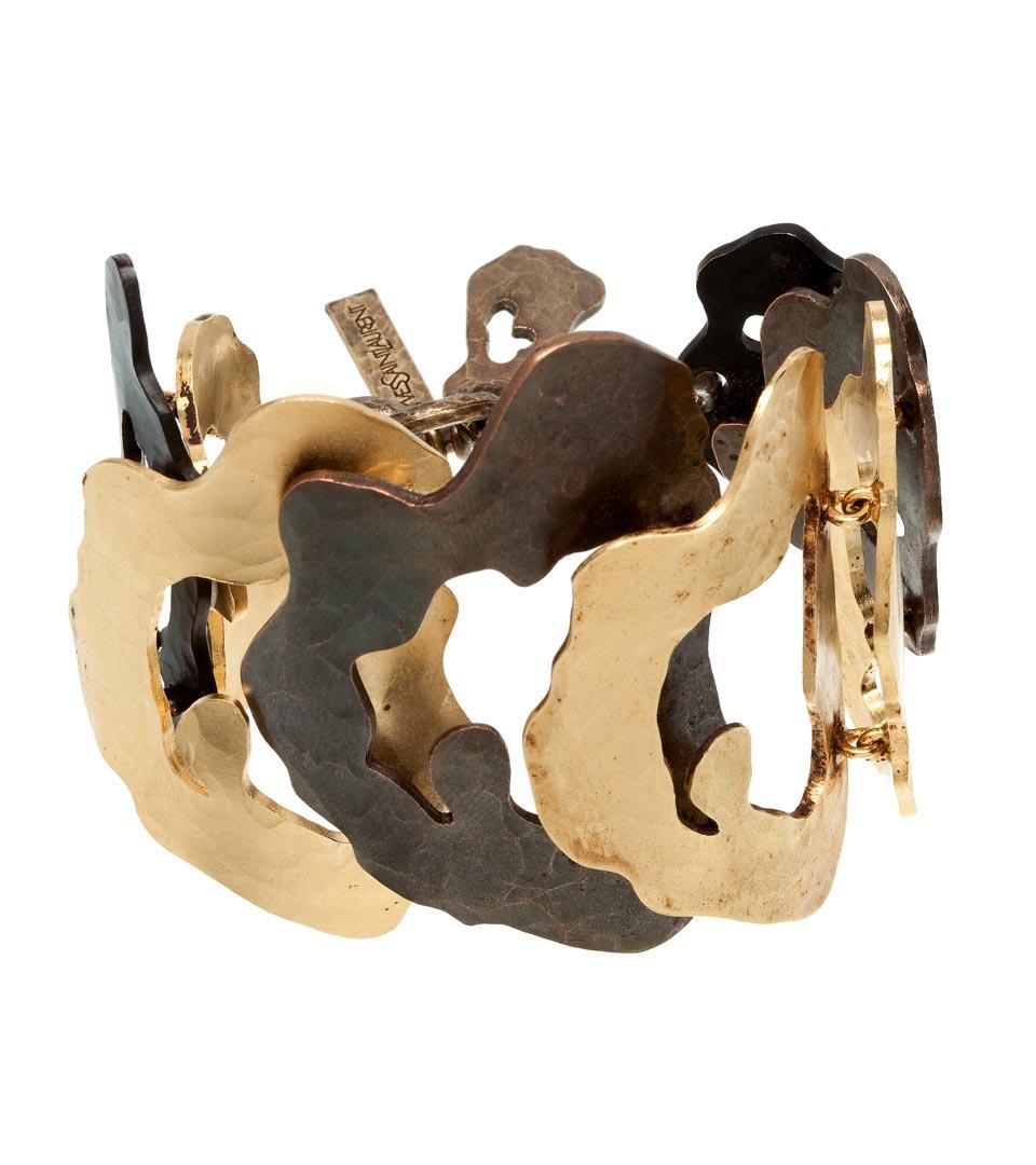 Yves Saint Laurent青铜豹纹手镯