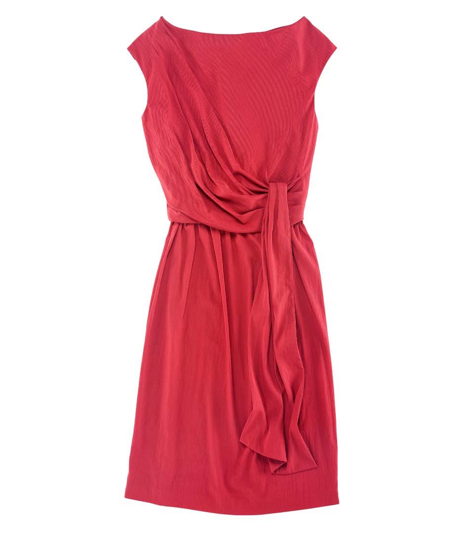 Diane von Furstenberg Tamara红色束腰无袖连衣裙