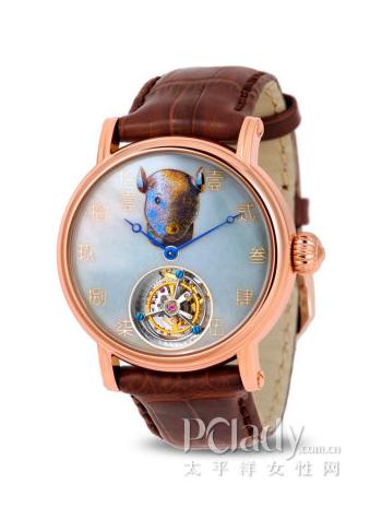 海鸥陀飞轮金表 H618.862(鼠)