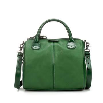 Zara 嫩绿色牛皮手提包