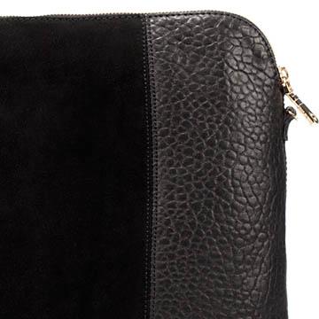 Zara 黑色羊皮信封包