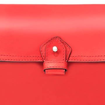 Zara 红色牛皮单肩包