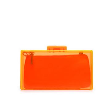 ZARA 橘色透明质感手包