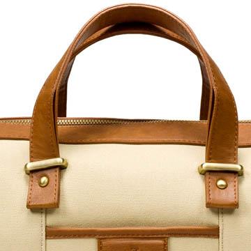 Zara 米色帆布手提包