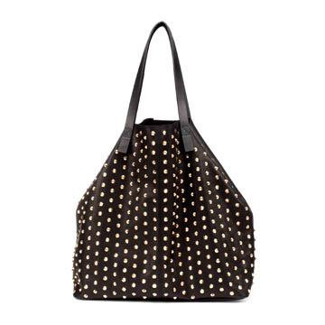 Zara 黑色铆钉手提包
