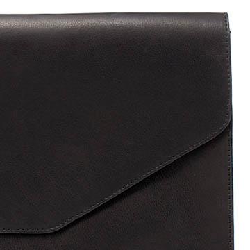 Zara 黑色牛皮手拿包