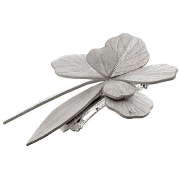 Evita Peroni 银色软革金属发夹