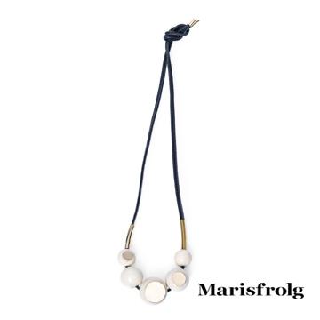 Marisfrolg玛丝菲尔圆形吊坠项链