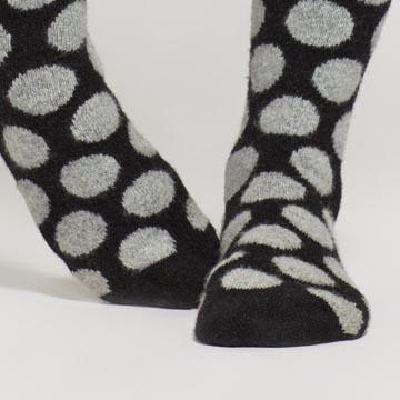 Marimekko 黑色波点长袜