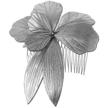 Evita Peroni 银色软革发夹