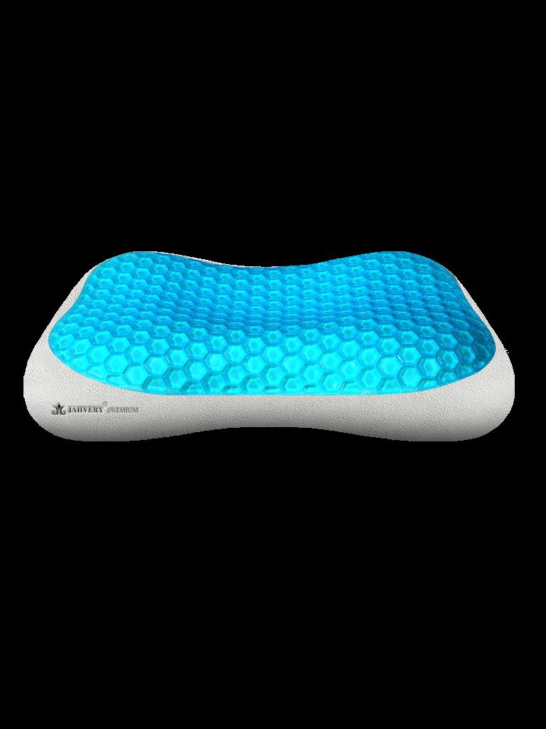 蓝蜂窝护颈凝胶枕