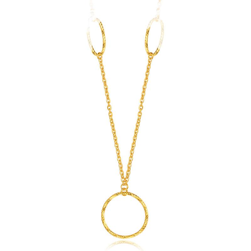 足金 黄金项链 圆环套链