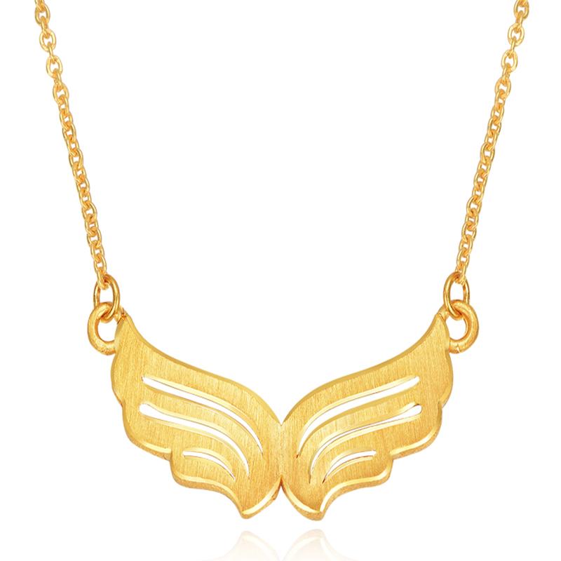 黄金天使套链 足金天使之翼项链