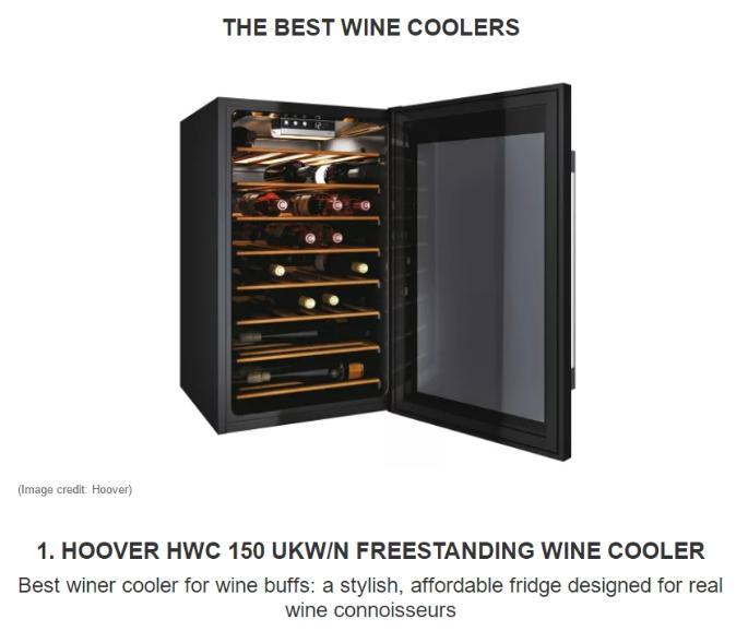 """《【金牛3代理平台】在英国:海尔智家旗下Hoover酒柜获""""最佳葡萄酒酒柜""""评选NO.1》"""