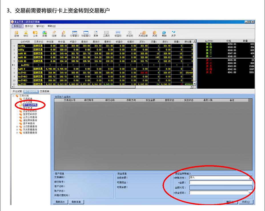 关于交易平台下载、登录与交易操作流程